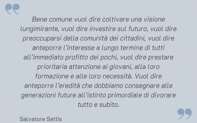 Citazione di Salvatore Settis sul tema comunità